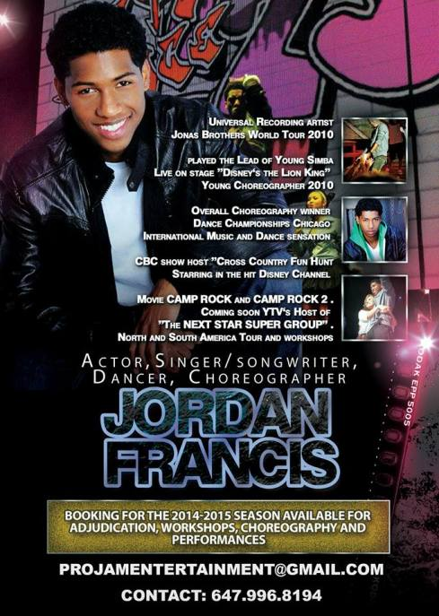 Jordan Francis Dancer Toronto Dance